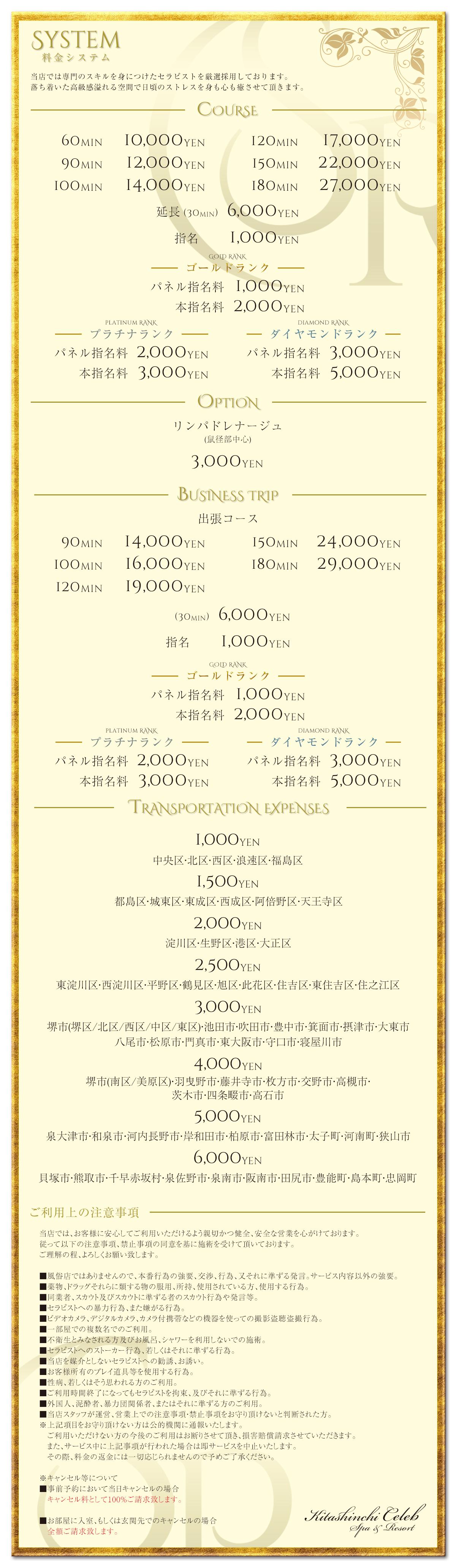 大阪、北新地にある高級メンズエステ「北新地セレブ SPA&RESORT」